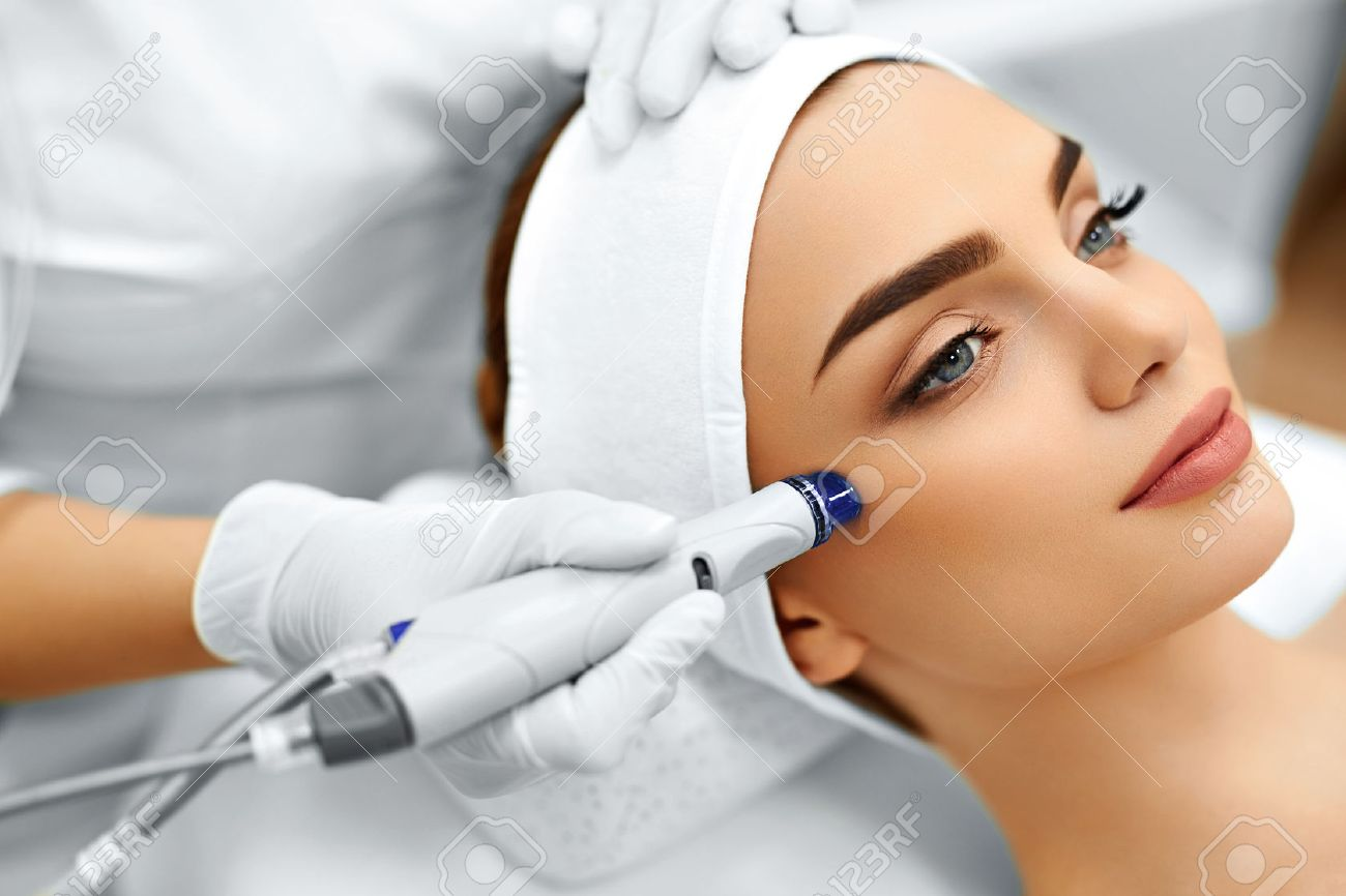 Face Skin Care Close Up Of Woman Getting Facial Hydro Microdermabrasion Stock Photo Picture And Royalty Free Image Image 48892779