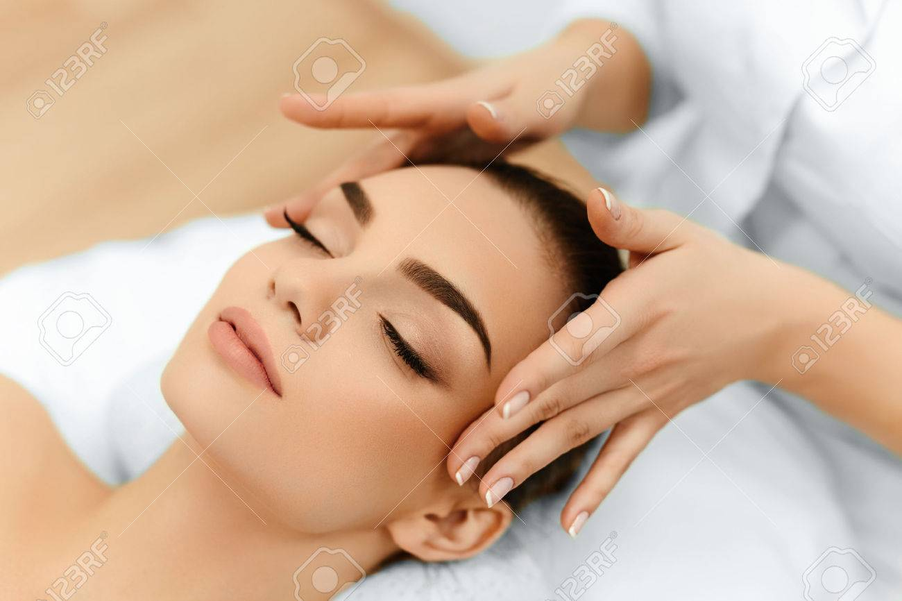 Skin And Body Care. Close-up Of A Young Woman Getting Spa Treatment ...