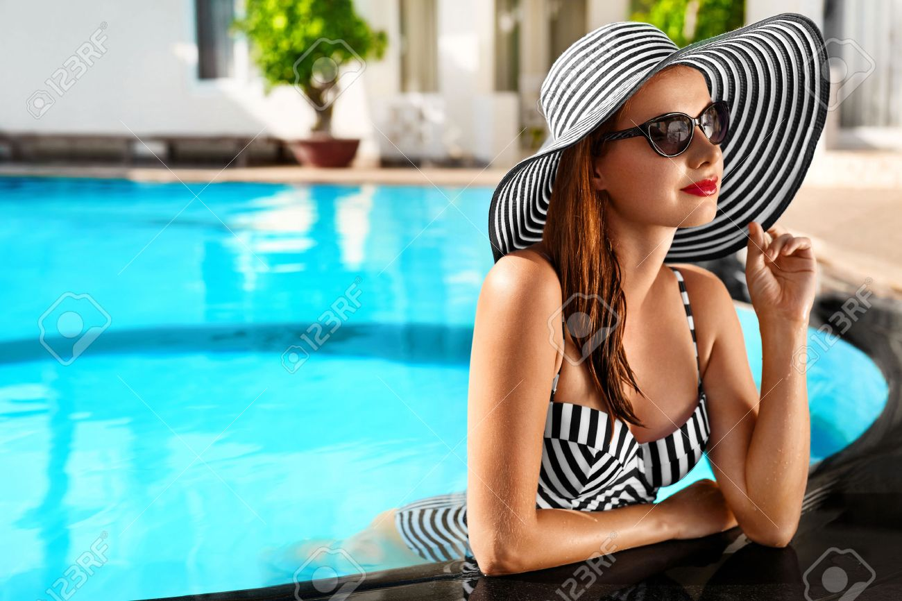 Summer Holidays. Travel Vacation To Spa Resort. Beautiful Fashionable..  Stock Photo, Picture And Royalty Free Image. Image 52696728.