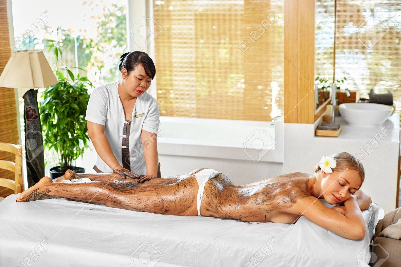 Body Care Spa Treatment Beautiful Sexy Young Woman Receiving