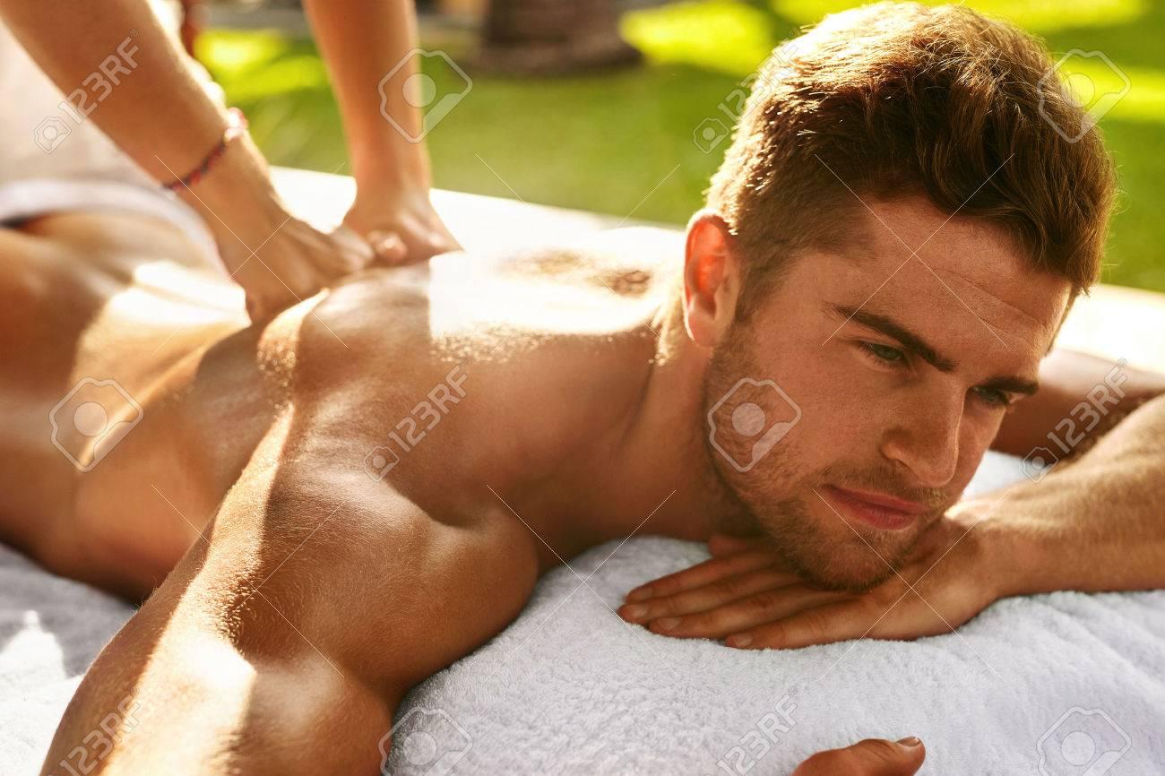 Man gets sexy massage