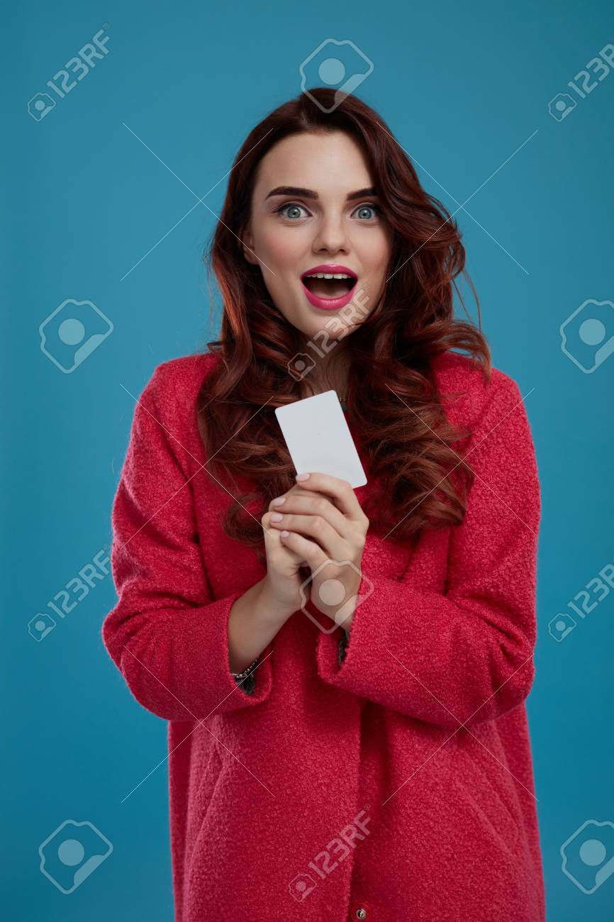 3e2ccc654 Fashion Model Girl In Stylish Clothes Looking Excited