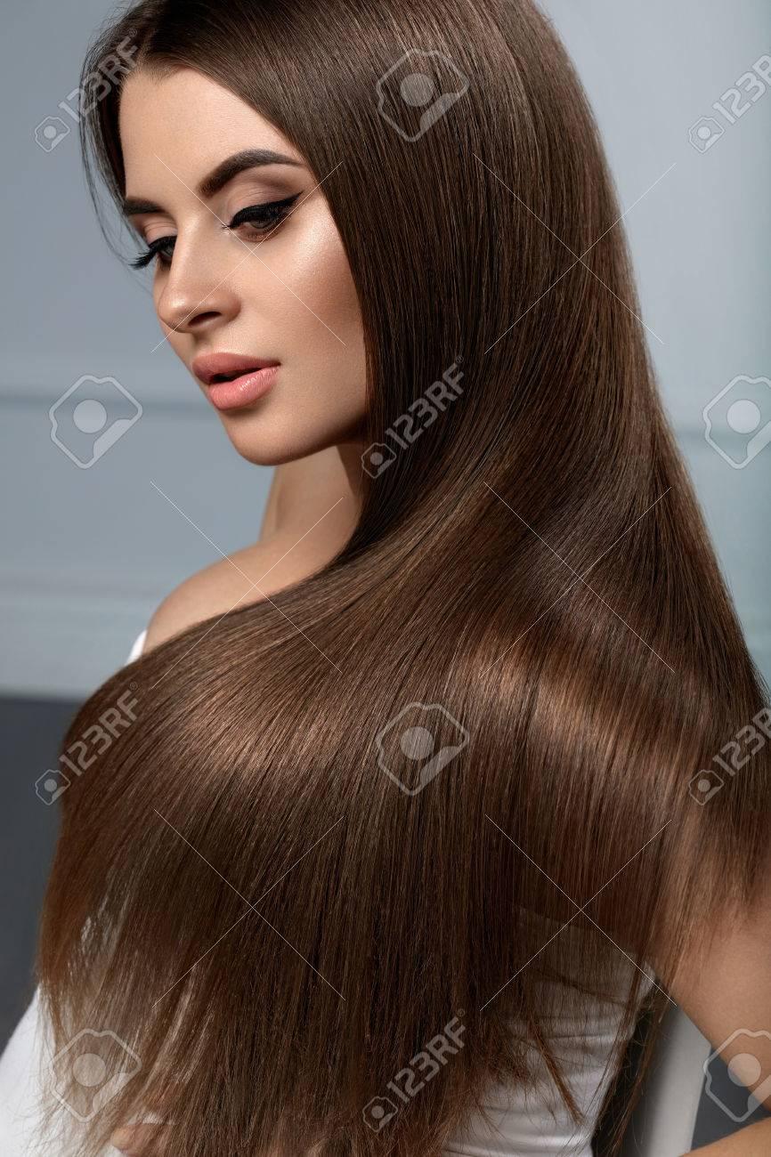 glatte lange haare