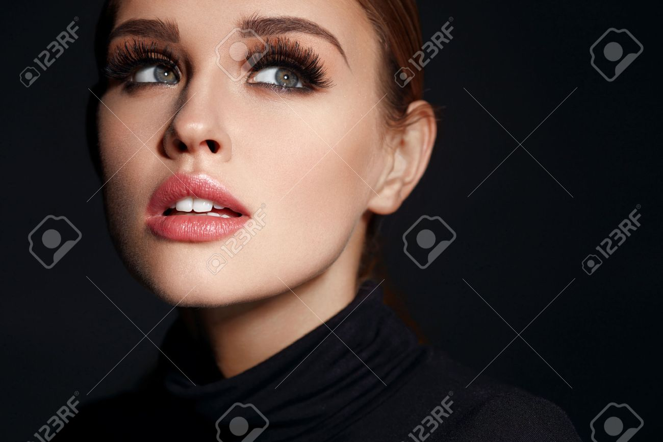 Beauty Woman Face Closeup Of Beautiful Young Female Model With Stock Photo Picture And Royalty Free Image Image 71353326