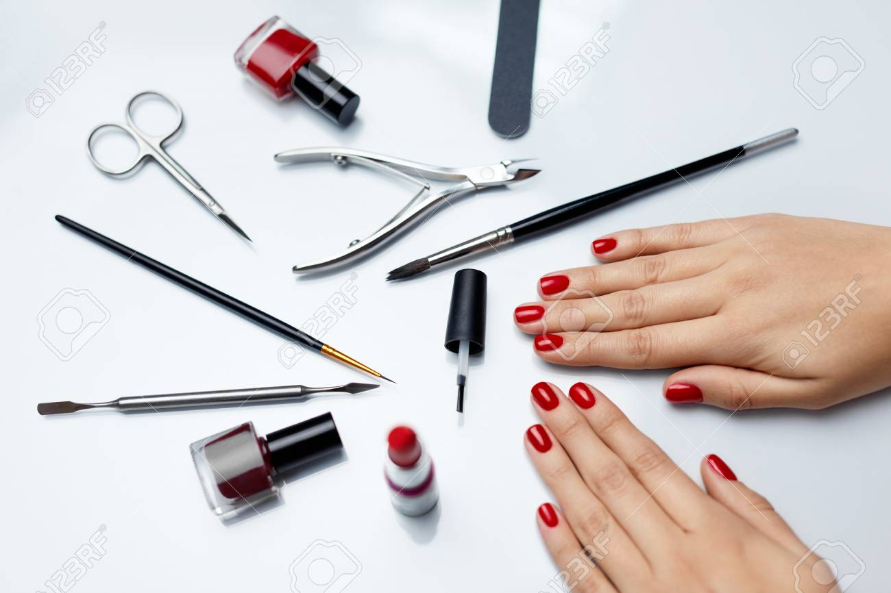 Woman Hands Care. Top View Of Beautiful Smooth Woman\'s Hands.. Stock ...