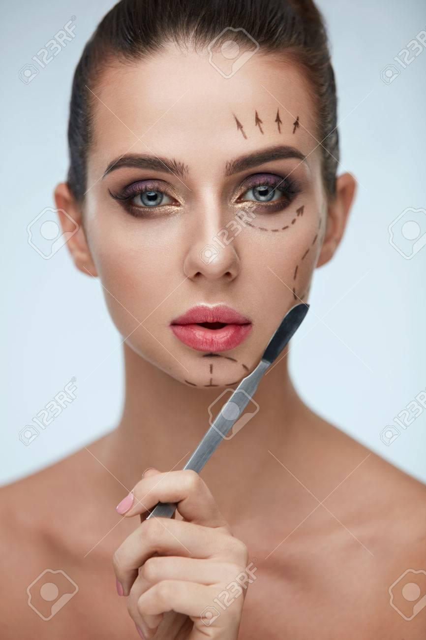 Protrait facial treatment