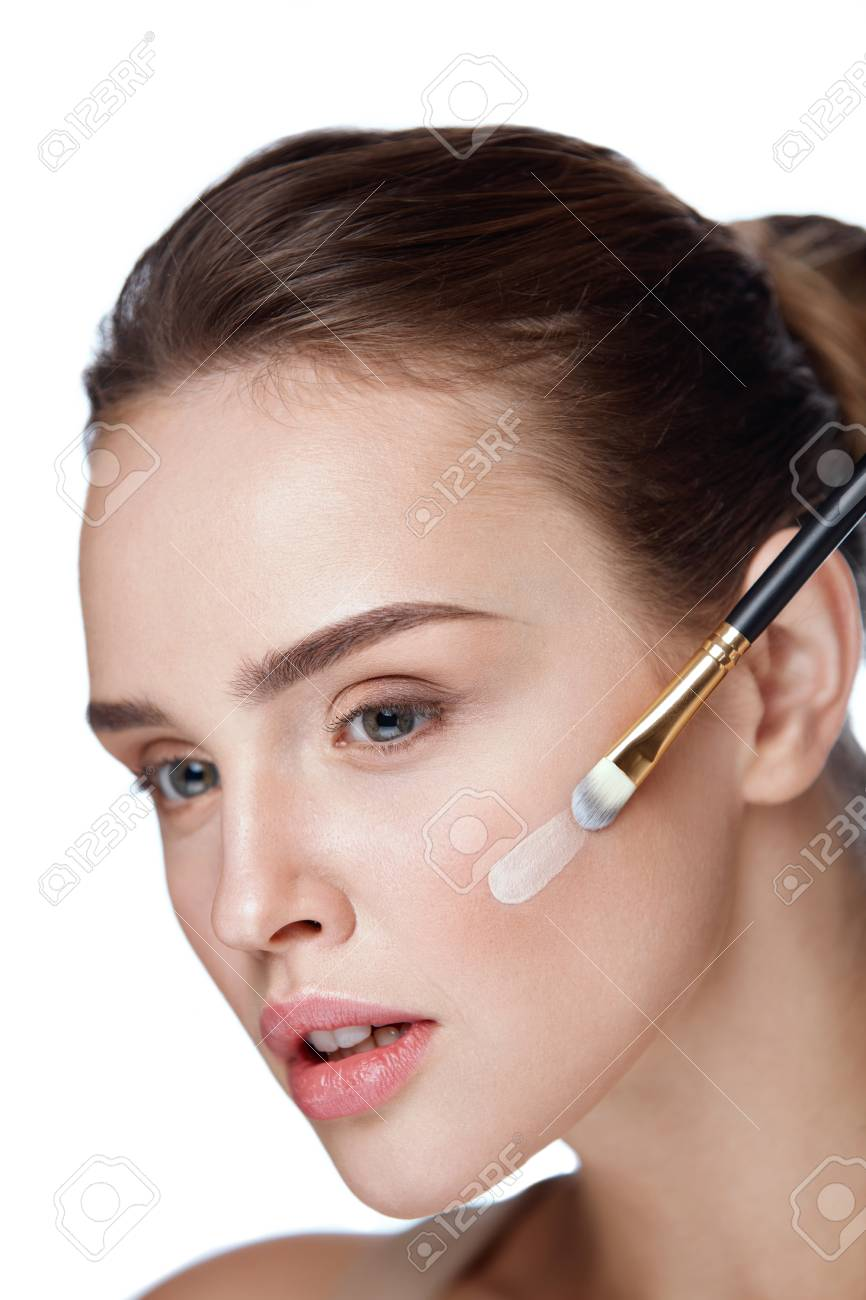 Woman Beauty Face Makeup Portrait Of Beautiful Young Female Stock Photo Picture And Royalty Free Image Image 76447075