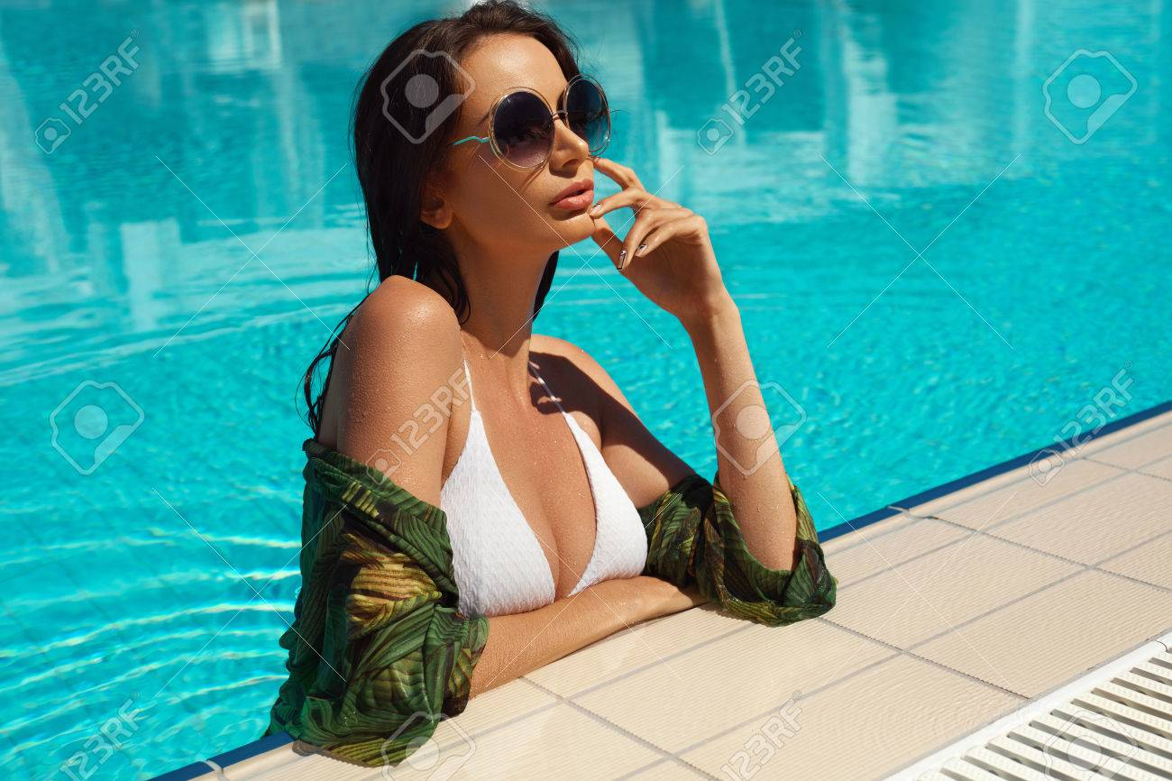 Summer Fashion  Fashionable Woman With Sexy Hot Fit Body In Stylish