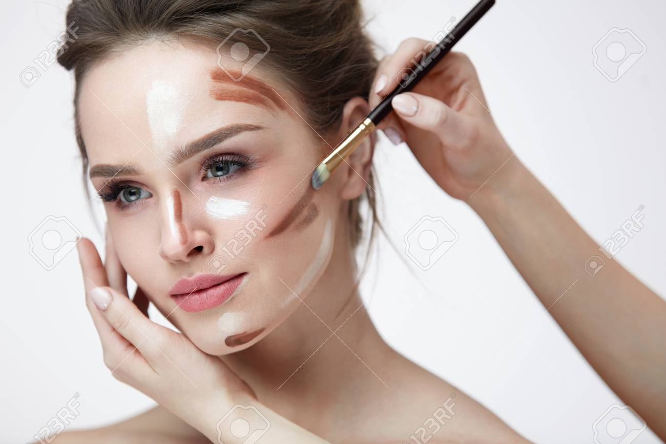 Female facial closeup pictures