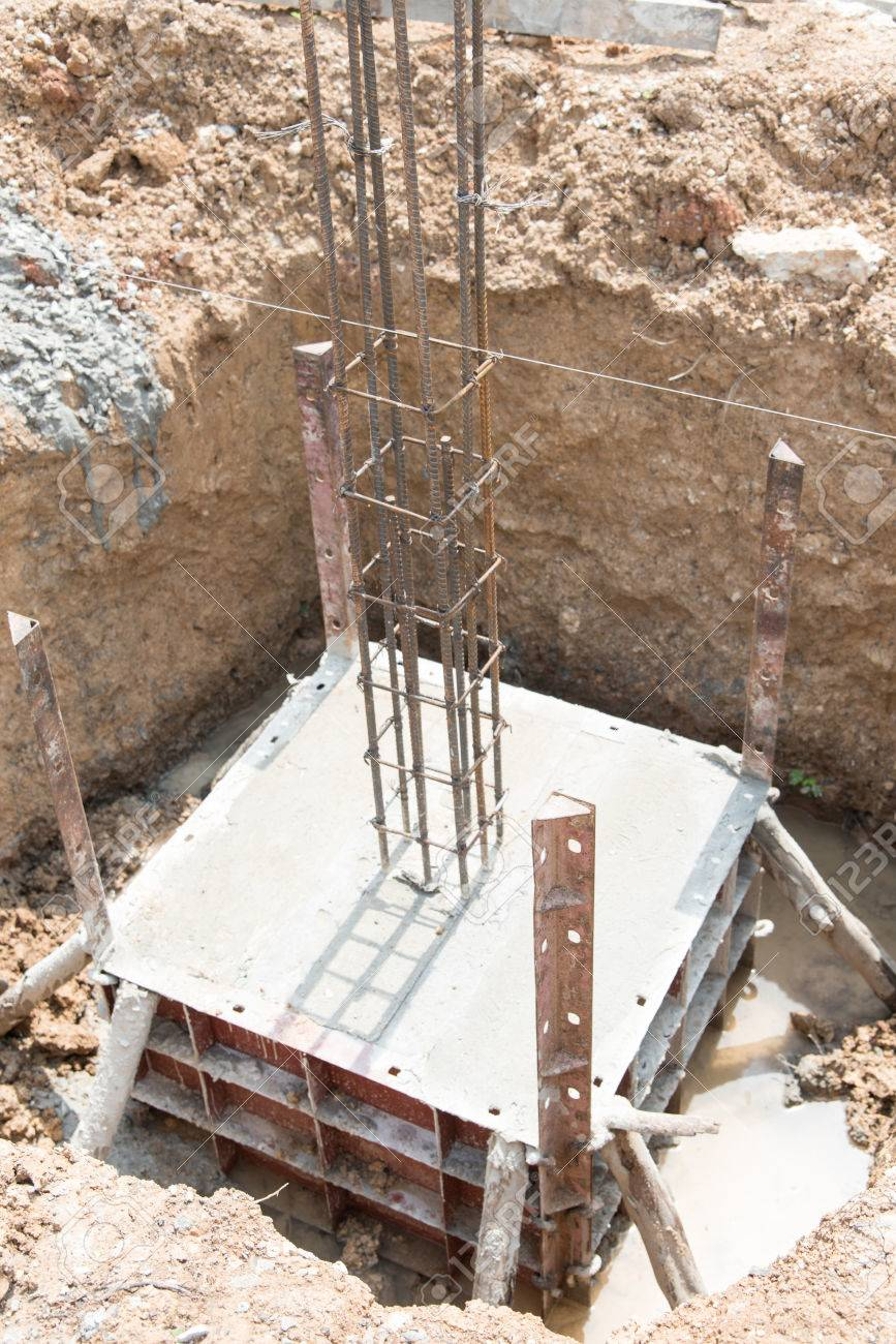 Concrete Footings For The Foundation In House Construction Stock Photo Picture And Royalty Free Image Image 66129174