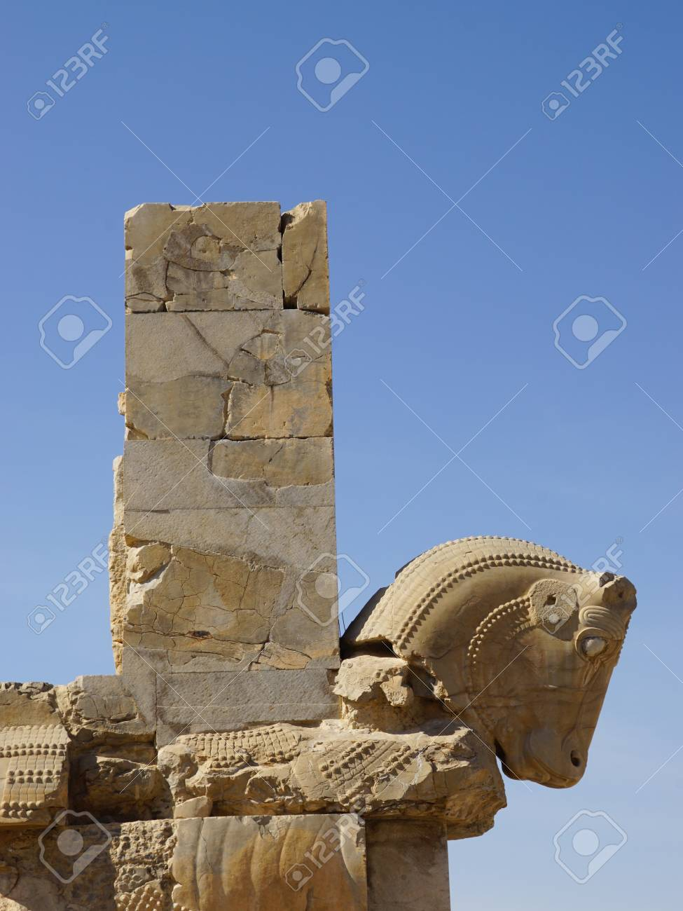 Horse Statue Of Persepolis In Shiraz Iran Stock Photo Picture And Royalty Free Image Image 49526030