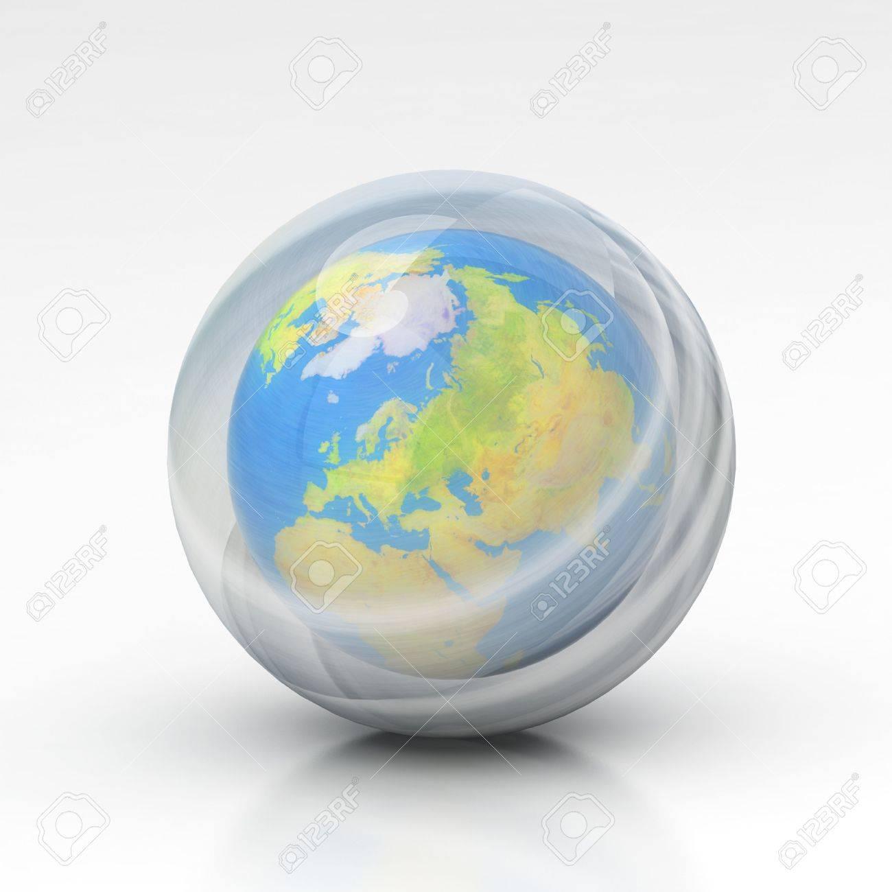 la tierra de la capa de ozono Foto de archivo - 4577122