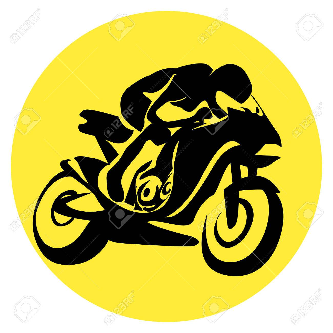 motorcycle racer Stock Vector - 4577123