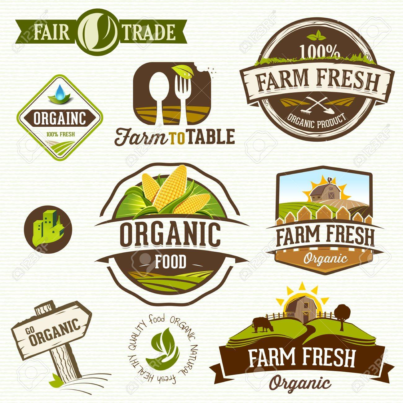 Organic Food Labels Royalty Free Cliparts Vectors And Stock Illustration Image 19844831