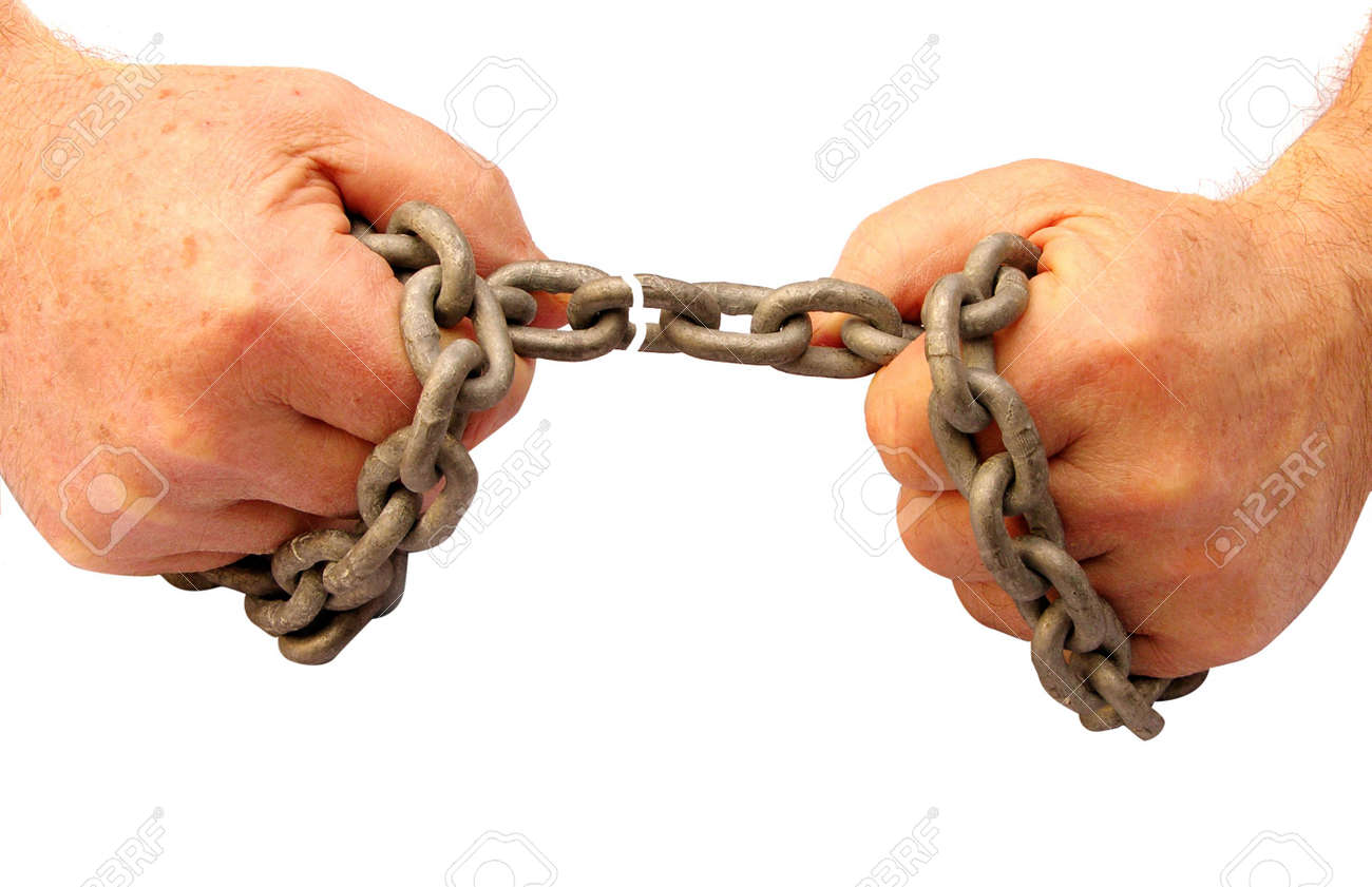 Breaking chains and getting freedom from bondage Stock Photo - 862853