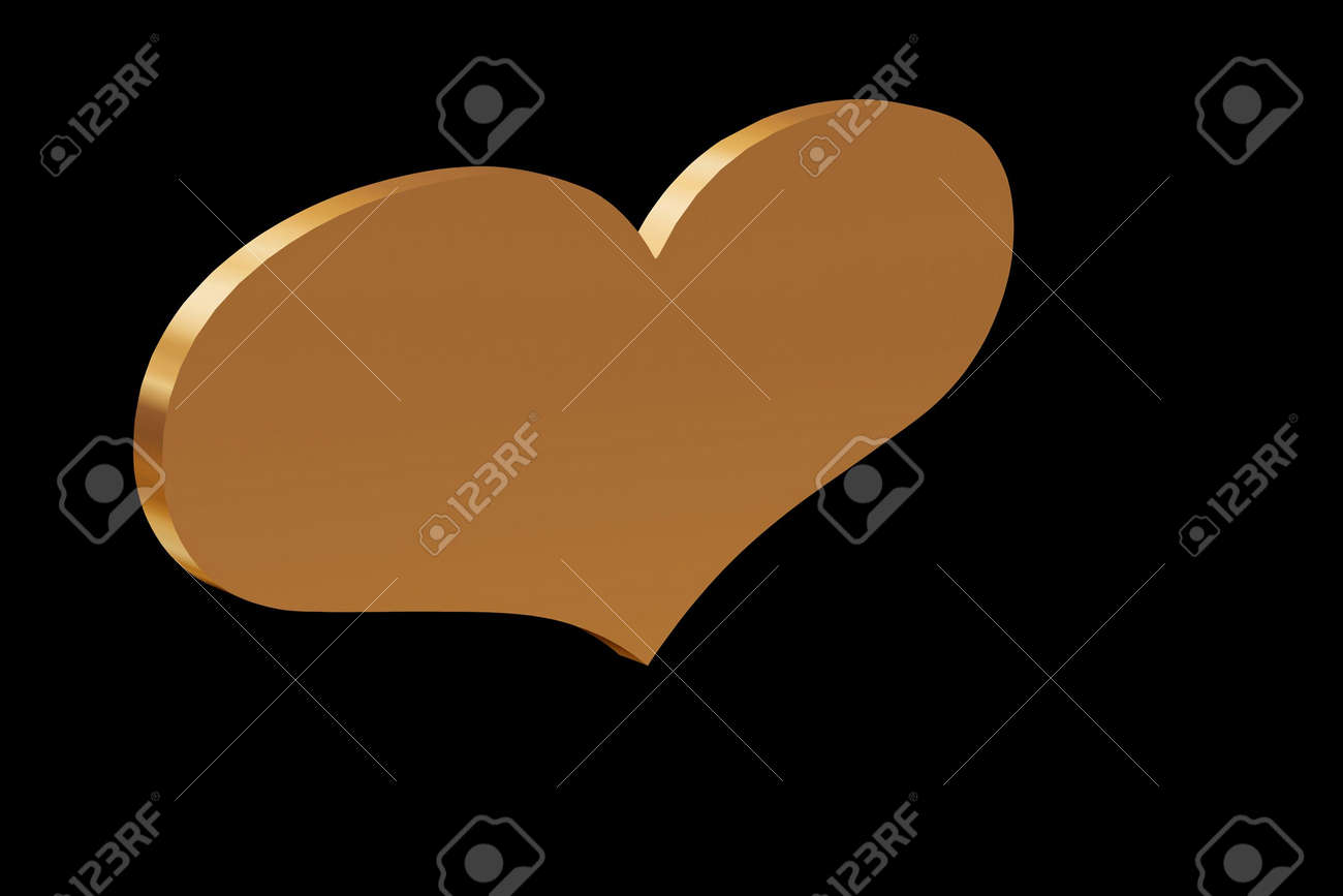 Heart of Gold sign of love and Wealth Stock Photo - 2200446