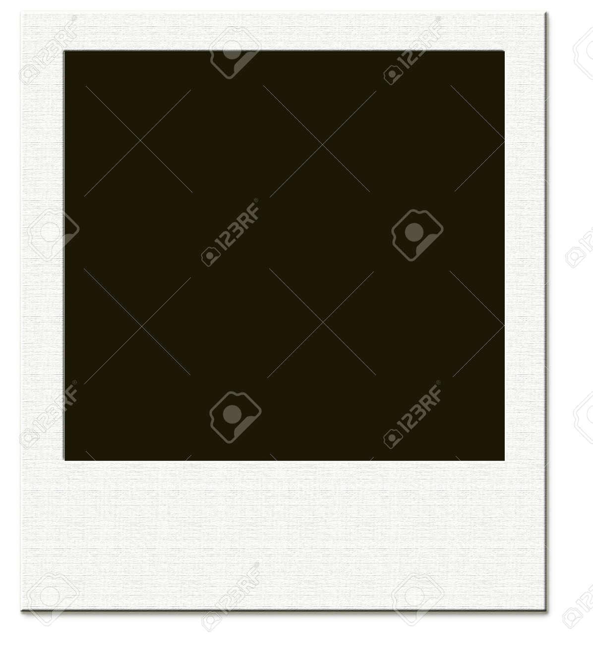Polaroid Rahmen Genau Der Richtige Ort Um Ihr Porträt Lizenzfreie ...