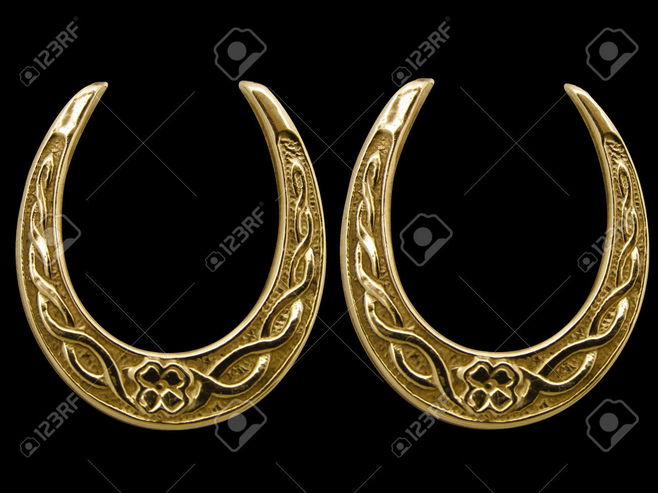 Shoes Antique Gold Antique Lucky Horse Shoes in