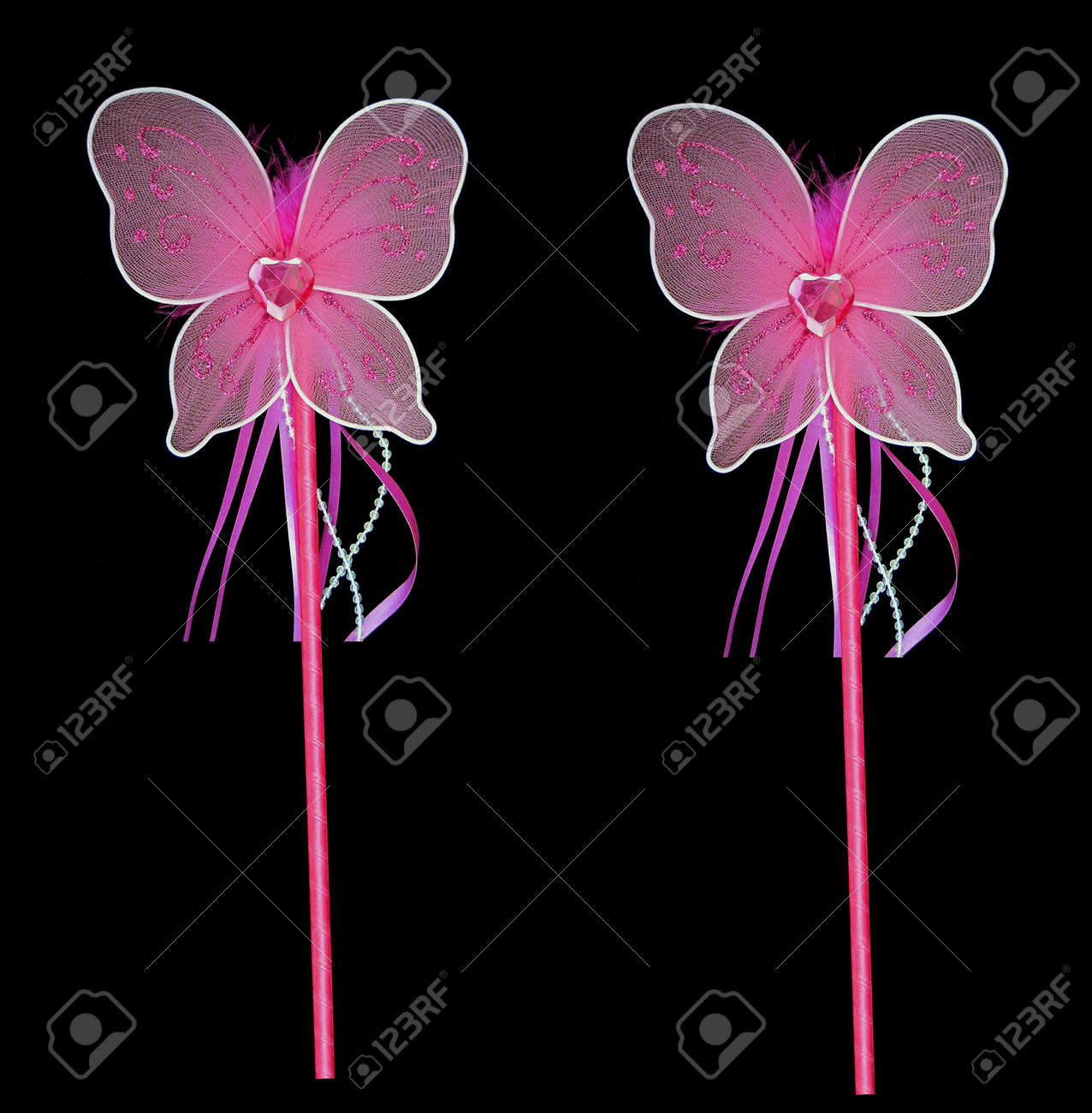 Pink fairy wands for getting all your wishes Stock Photo - 5700661
