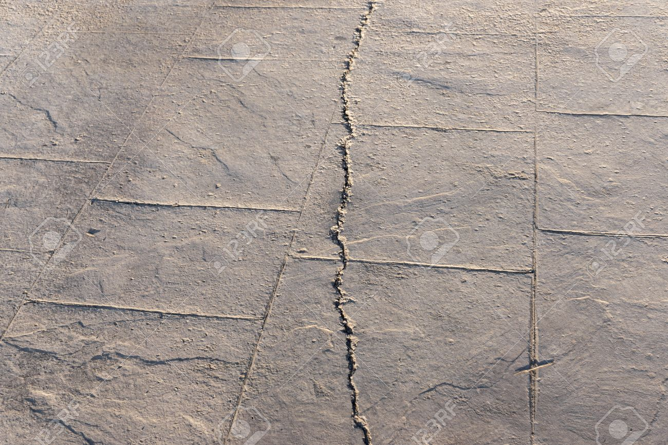 Fractured Surfaces Of Stamped Concrete Pavement Outdoor, Appearance ...