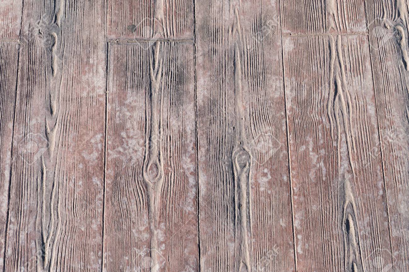 Stamped Concrete Pavement Outdoor, Wooden Slats Pattern, Flooring Exterior,  Decorative Texture Of Cement