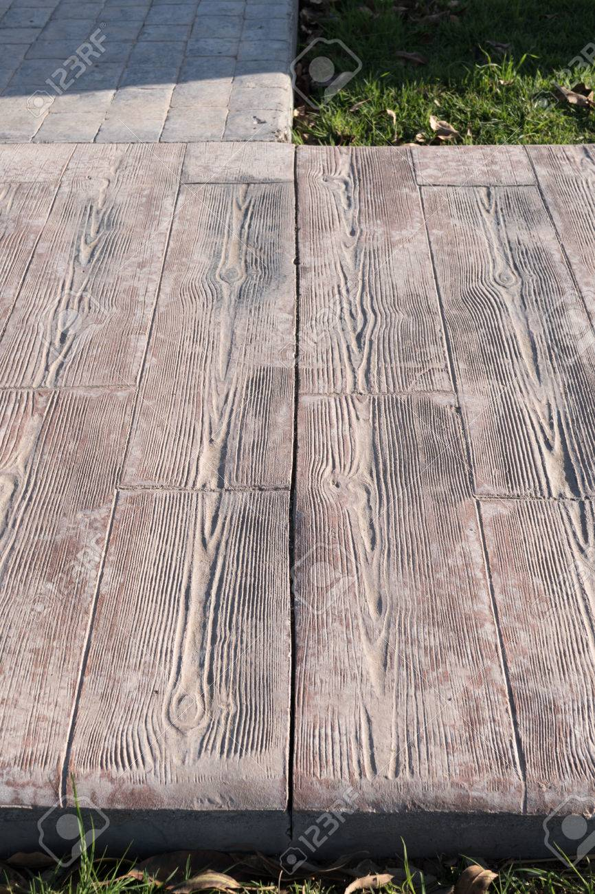 Stamped Concrete Wood Pattern Magnificent Inspiration Design