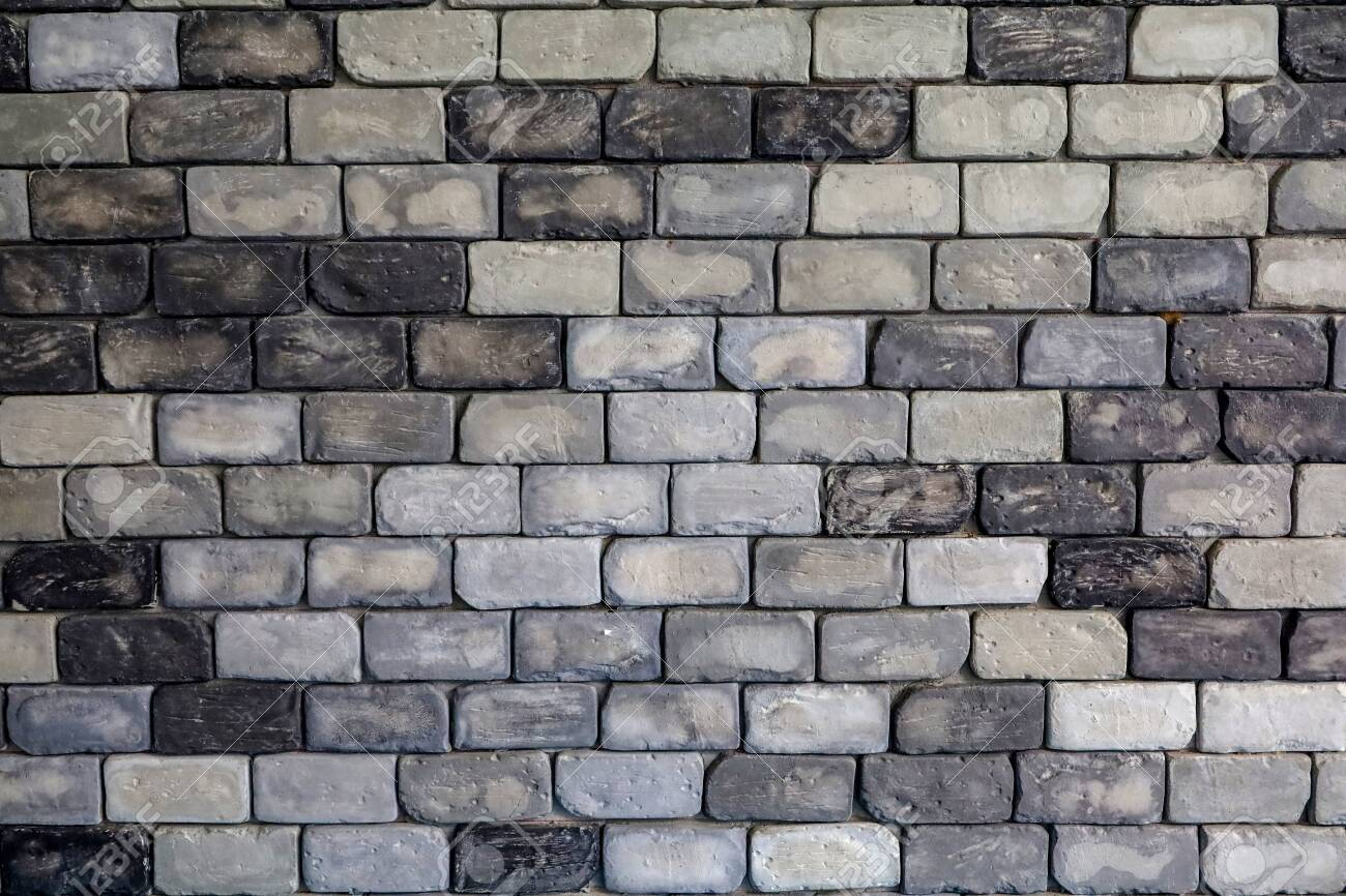 old brick wall for background tone black and white - 133963868