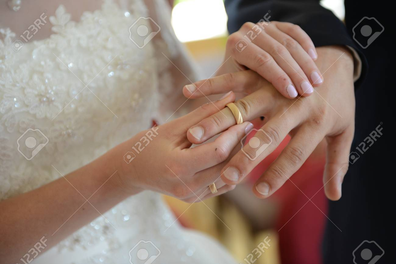 Exchange Of The Wedding Rings Stock Photo Picture And Royalty Free