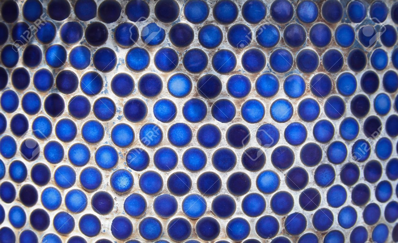 Blue penny circular ceramic tiles background tiled indigo color blue penny circular ceramic tiles background tiled indigo color bathroom wall stock photo 60787108 dailygadgetfo Gallery