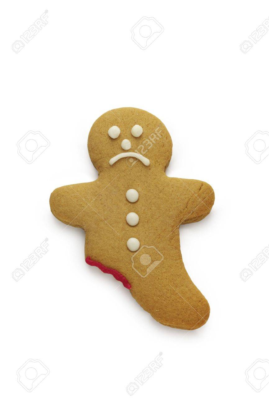 A very sad looking gingerbread man - 15320916