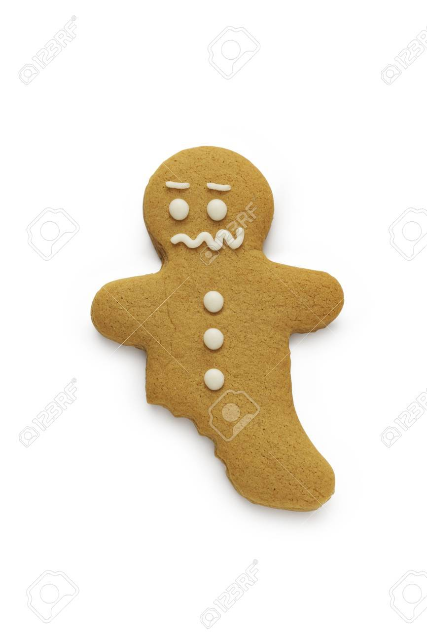 A worried looking gingerbread man - 15320941