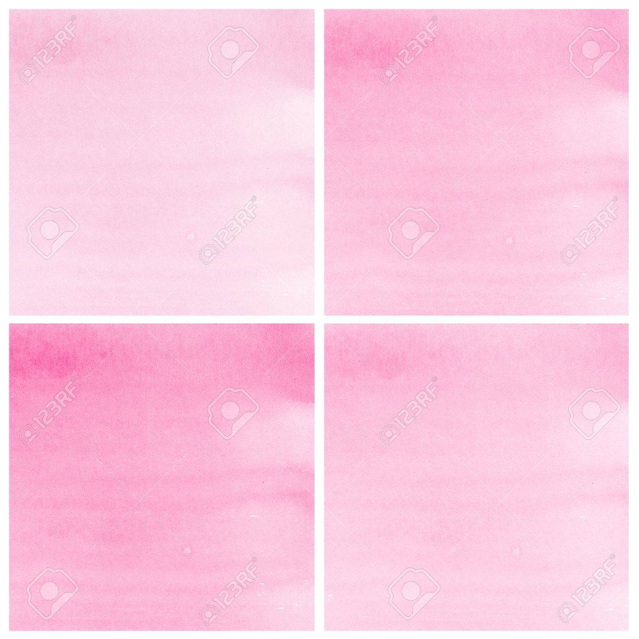 Set Of pink Abstract watercolor background Stock Photo - 15169622