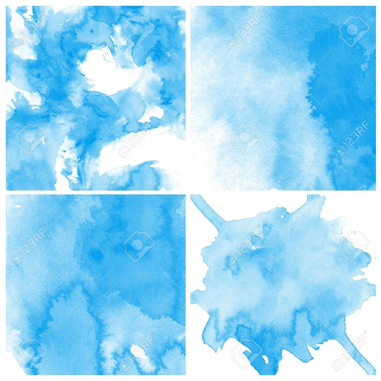 Set of colorful Abstract water color art hand paint background Stock Photo - 16536442