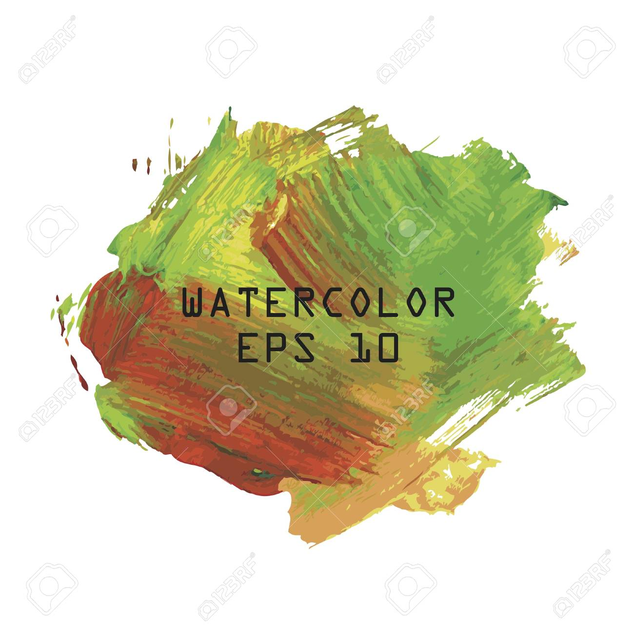 Abstract colourful watercolor hand paint on white background Stock Vector - 16925109