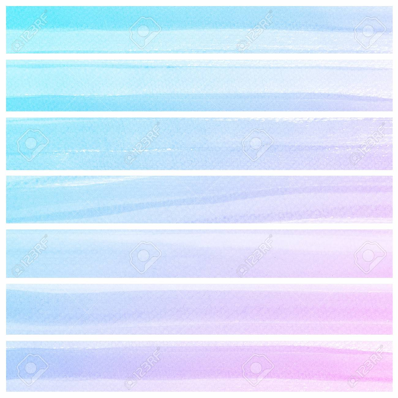 Set of colorful Abstract water color art hand paint background Stock Photo - 18666301
