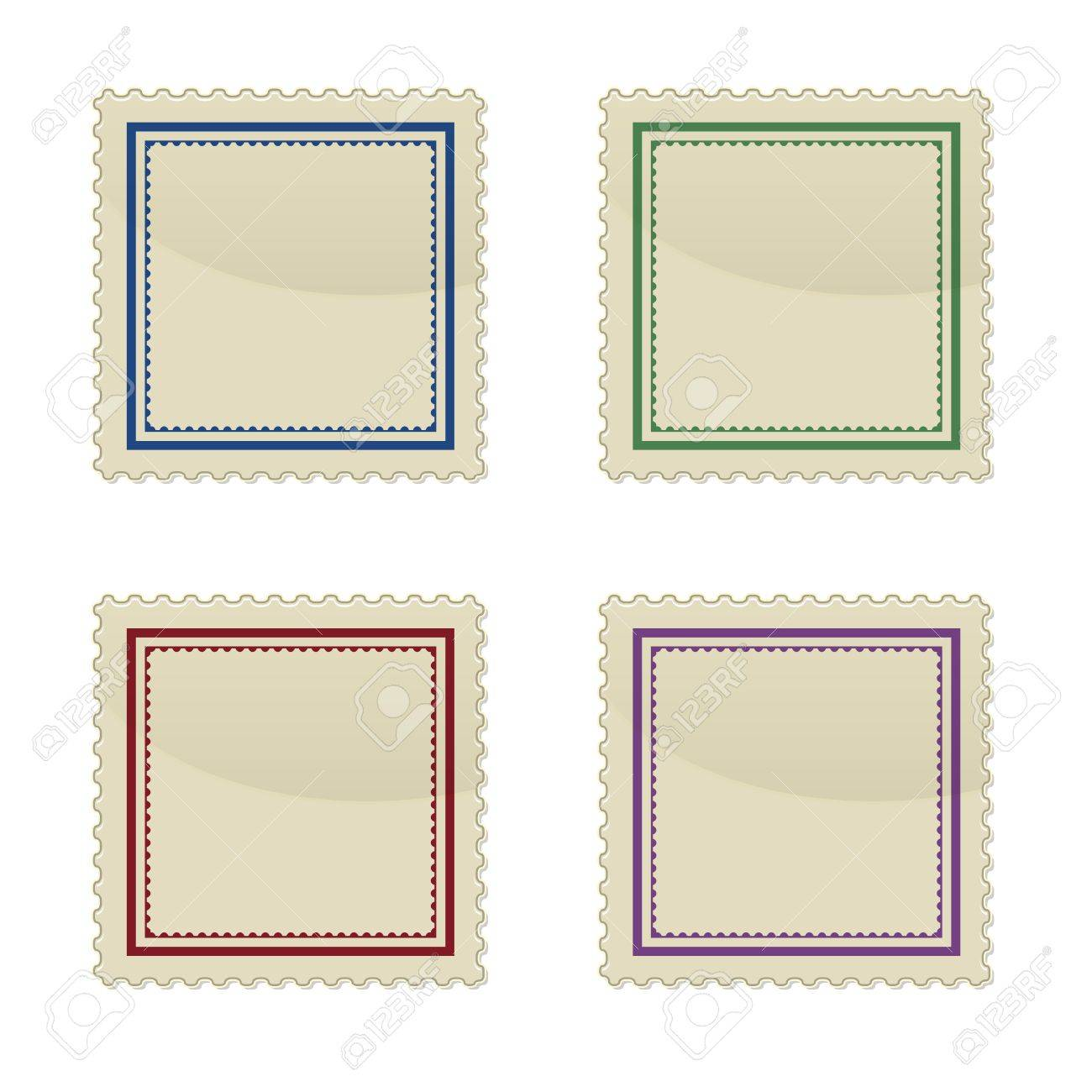 Set of stamp, square shape, vector illustration Stock Vector - 17581103