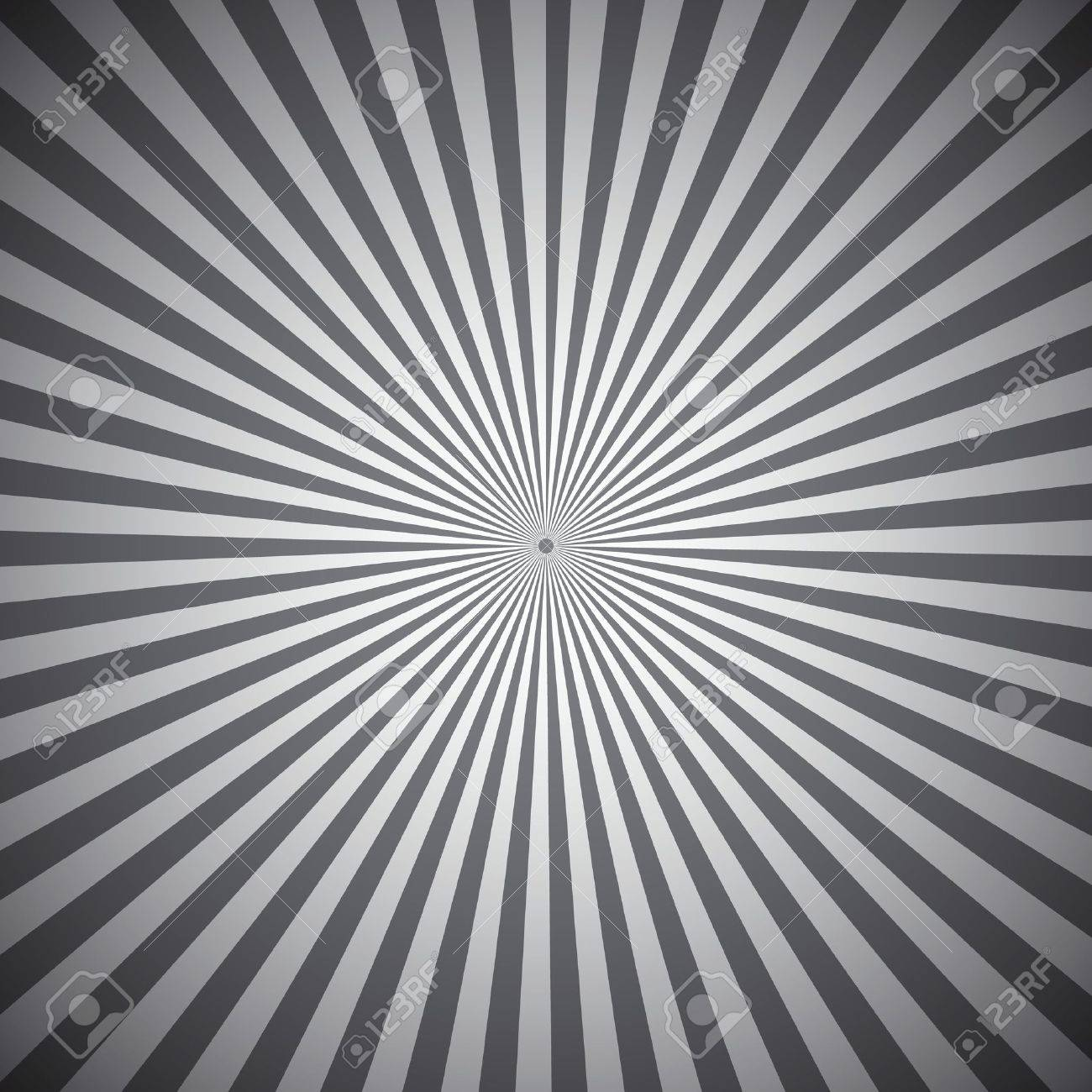 Gray radial rays abstract background, vector illustration Stock Vector - 19336765