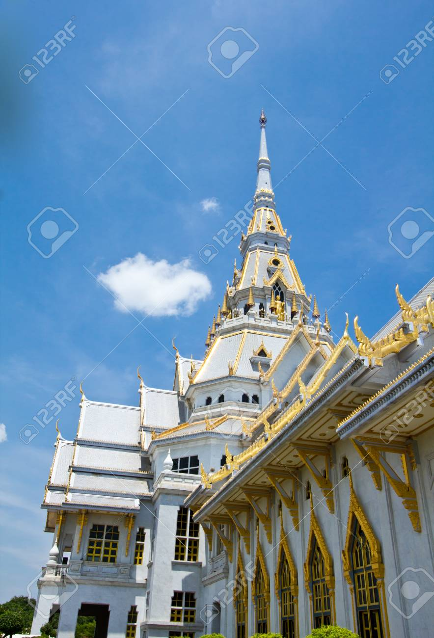 Great gray church in Chacherngsao province  Thailand Stock Photo - 13721567