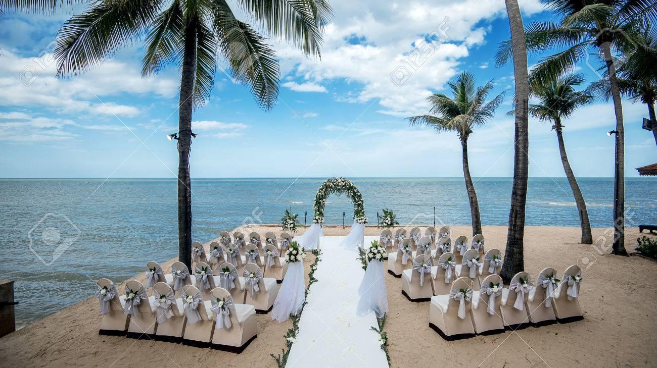 beach wedding chairs. Wedding Setting,beach Wedding,wedding Chairs Stock Photo - 82915116 Beach S