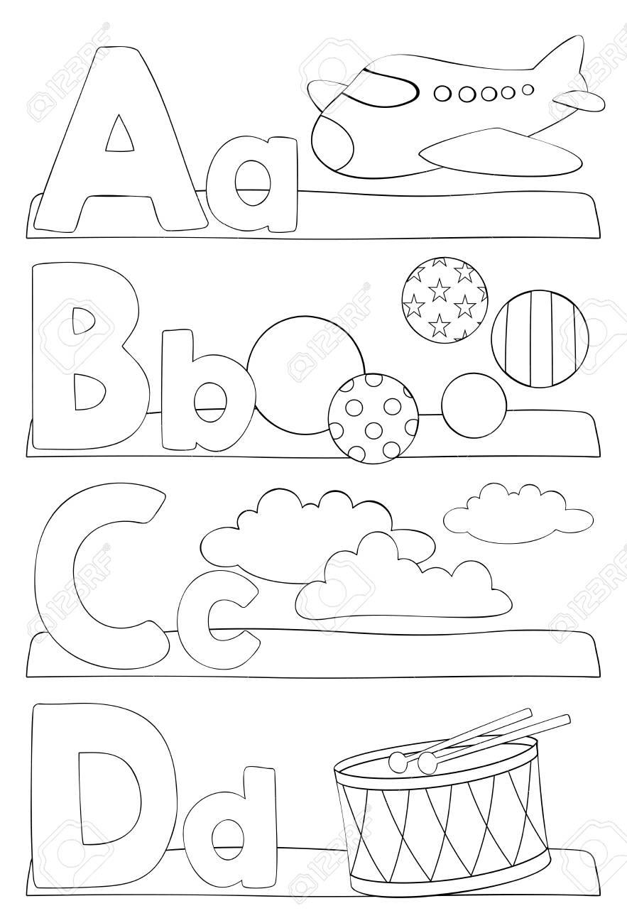 Alphabet éducation Coloriage Pour Les Enfants Apprendre Les Lettres