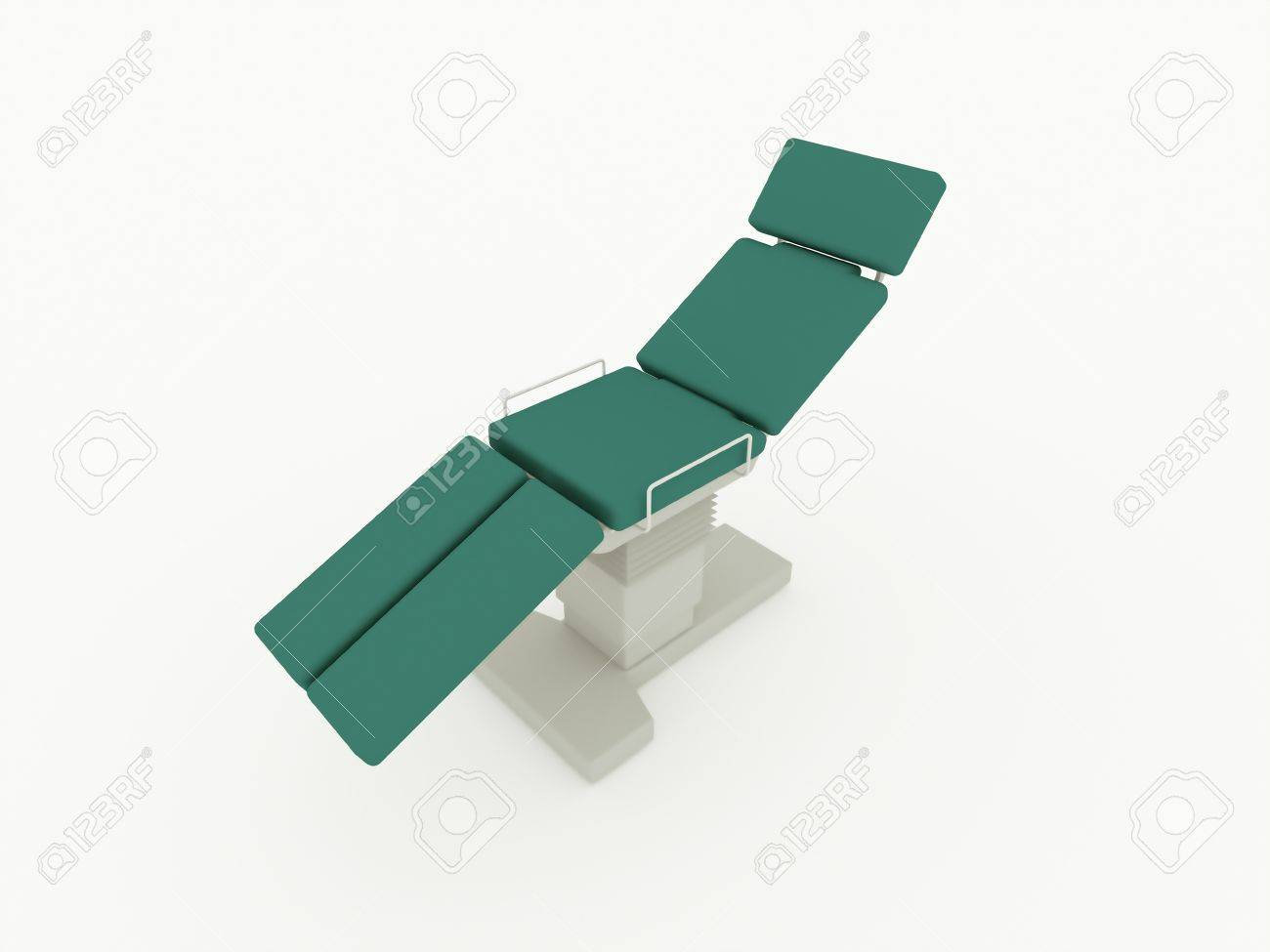 Dentist chair rendered isolated on white background Stock Photo - 22147681