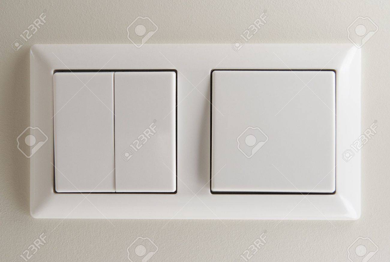 Two Light Switches On Wall Stock Photo, Picture And Royalty Free ...