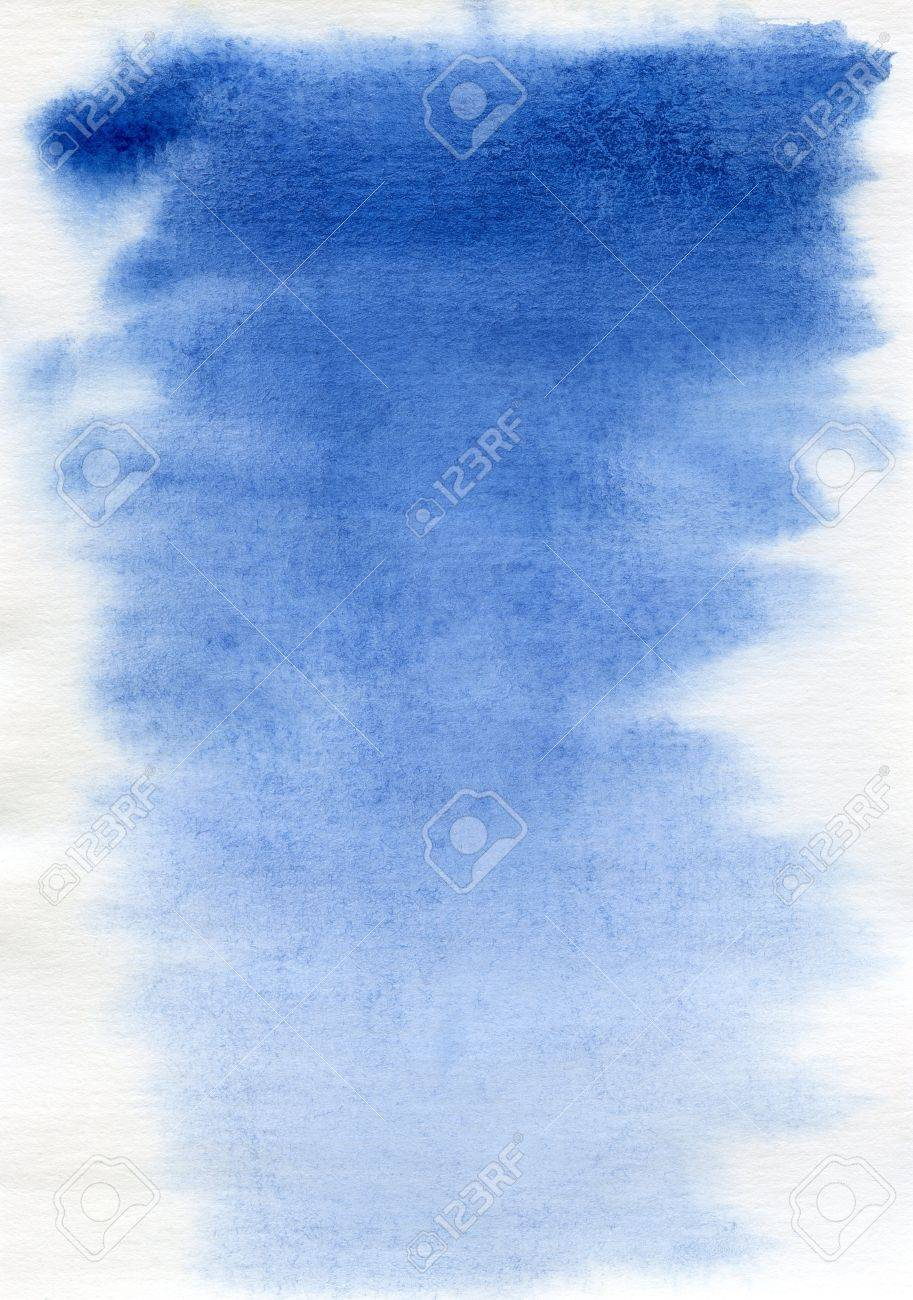 abstract blue watercolor background on white Stock Photo - 8855677