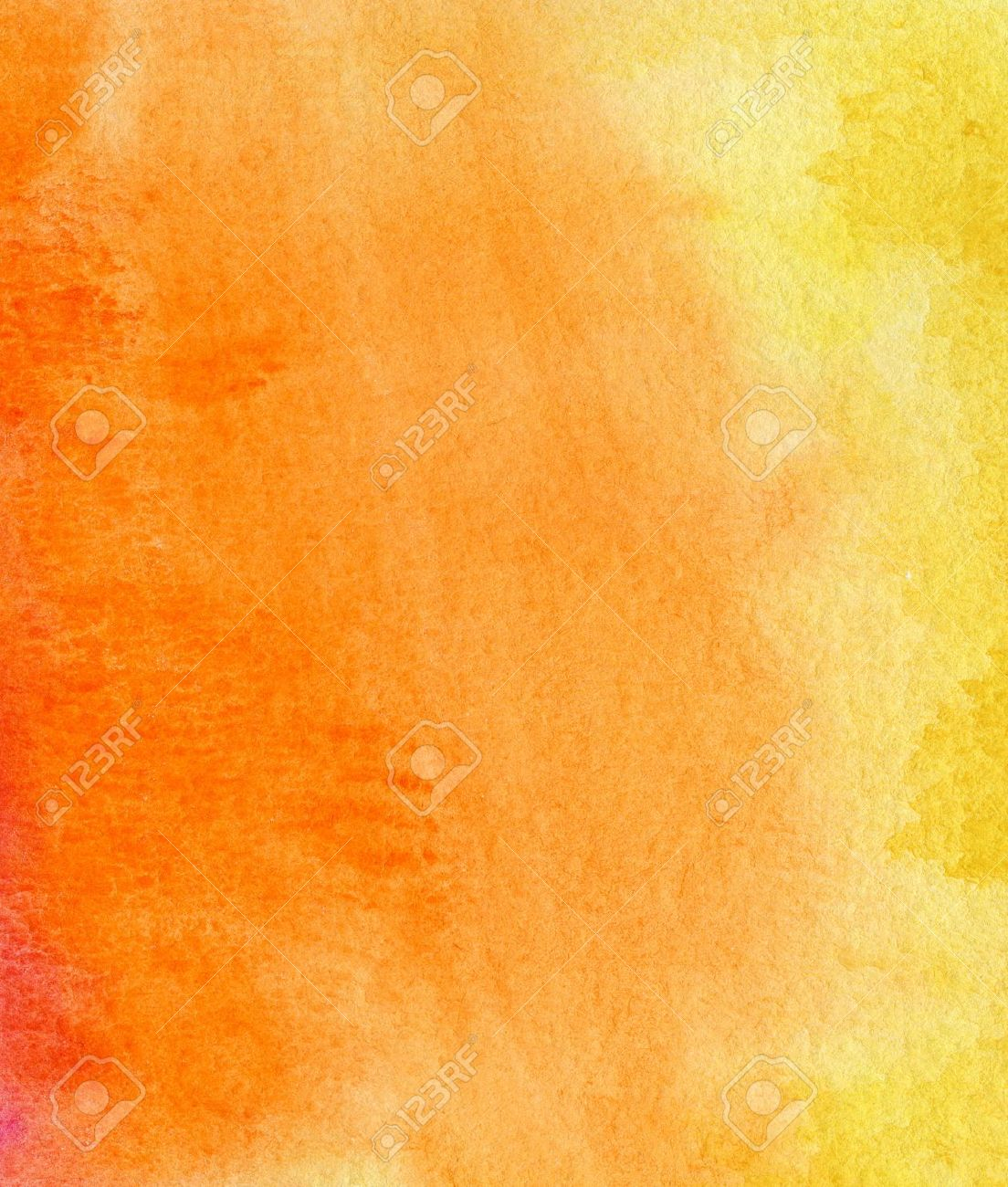 Abstract Yellow Red And Orange Watercolor Background