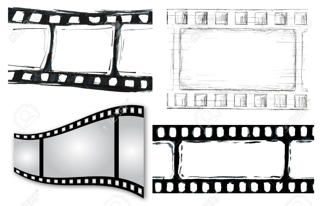 Grunge film strip illustrations for your design Stock Photo - 11726586