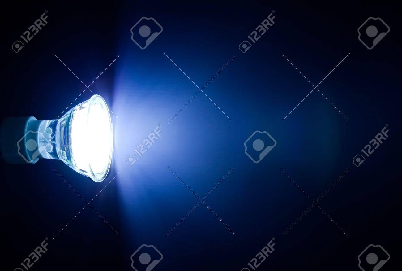 Blue beam of led lamp Stock Photo - 12997092