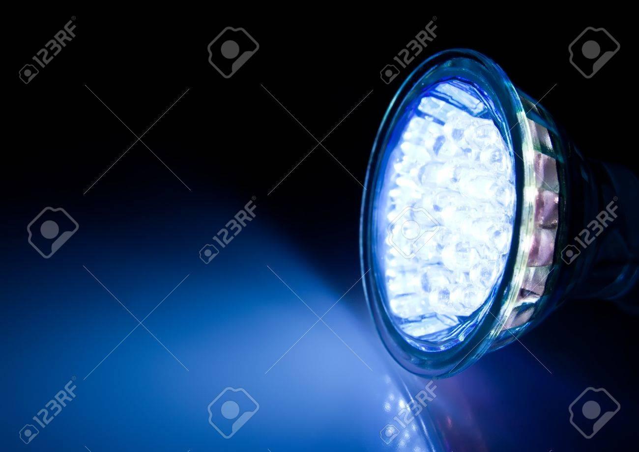 Blue beam of led lamp Stock Photo - 12997109