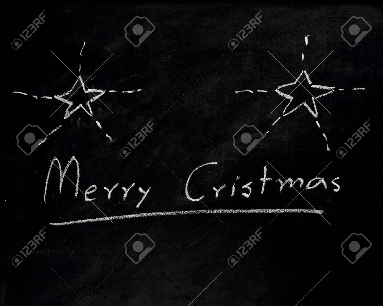 Christmas sign on blackboard Stock Photo - 16440002