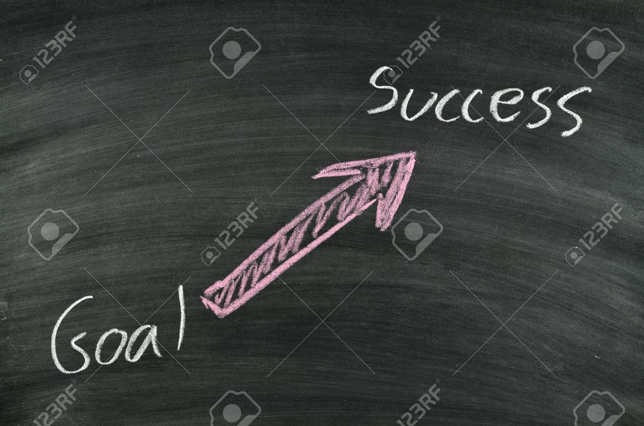 goal and success written on blackboard Stock Photo - 17728535