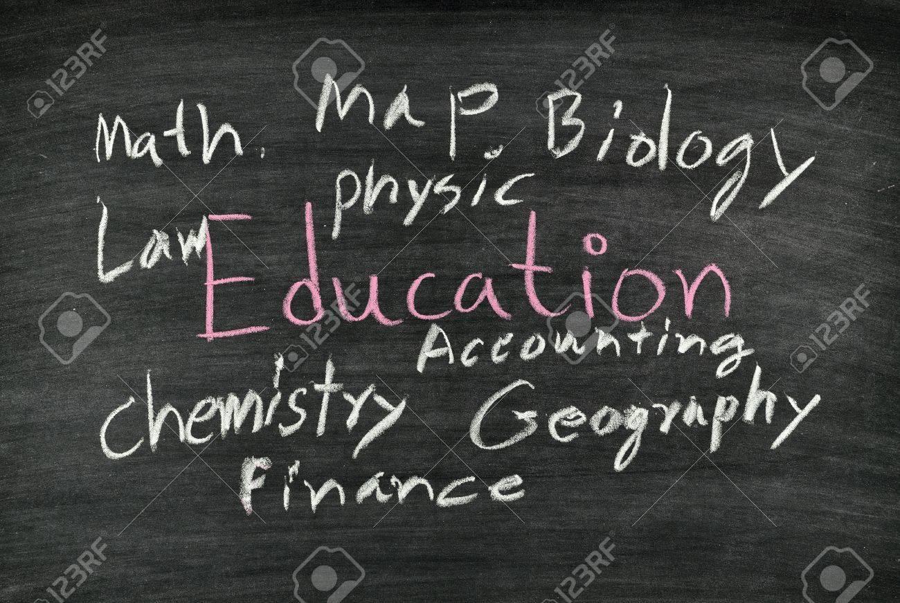 education written on blackboard Stock Photo - 17932681